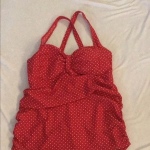 Red Polka Dot Maternity One piece